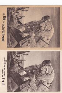 GG: offiz. Gedenkarte G15: NSDAP: 2 verschiedene Papiersorten