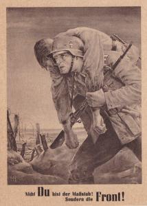 GG: offiz. Gedenkarte G15: NSDAP: dunkleres Papier