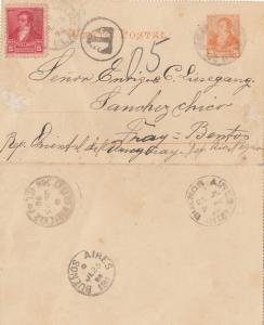 Argentinien: 1898: Kartenbrief Buenos Aires