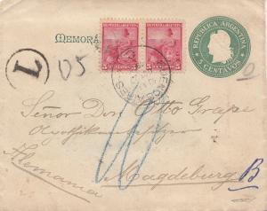 Argentinien: 1900: Ganzsache nach Magdeburg
