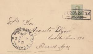 Argentinien: 1892: Buzonistas, Ganzsache nach Buenos Aires