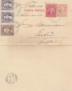 Argentinien: 1892: Ganzsache nach Eutin