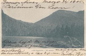 Argentinien: 1905: Ansichtskarte Lago Mascardi - Rio Negro