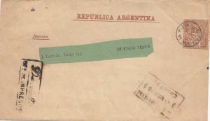 Argentinien: 1890: Streifband Ganzsache