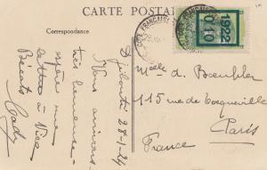 Äthiopien: 1924: Ansichtskarte Cote Francaise Djibouti Habitation nach Paris