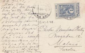 Äthiopien: 1947: Ansichtskarte Addis Abeba ex Ministero etiopico nach Malmö