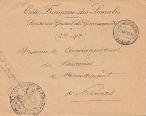 Äthiopien:  1914: Cote Francaise des Somalis nach Rennes