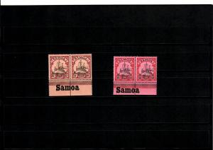 Samoa 2x mit Inschrift Unterrand, postfrisch