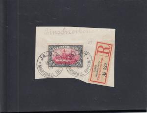 Marshall-Inseln: MiNr. 25 auf Briefstück, gestempelt Jaluit, BPP Attest