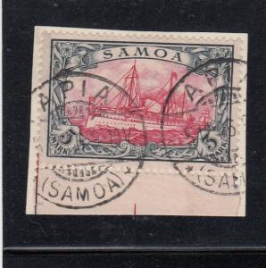 Samoa: MiNr. 19, gestempelt Apia, BPP Attest