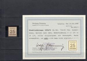 NDP: Elsaß-Lothringen: MiNr. 7 Ib, postfrisch, BPP Befund
