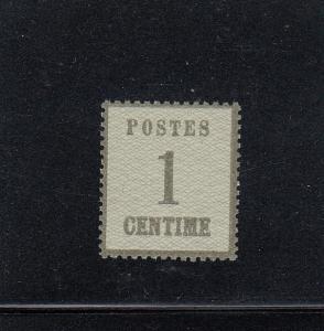 NDP: Elsaß-Lothringen: MiNr. 1c, postfrisch