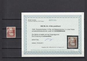 SBZ: MiNr. 214 bx, postfrisch