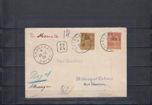 China 1906: Regiistered - Franc Post Shanhai to Germany