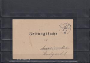 Togo 1913: Zeitungssache aus LOME - Togogebiet nach Berlin und dann Stuttgart