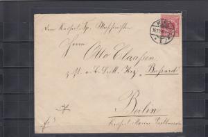DR 1896: Kiel an Maschinist des Kreuzers Bussard in APIA wegen Unruhen