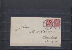 Togo 1891: GU in MiF Lome. Einer von 2 bekannten Briefen der Pfennig Ausgabe