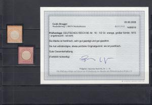 Deutsches Reich: MiNr. 18-19, postfrisch (18 mit BPP Befund, 19 BPP geprüft)