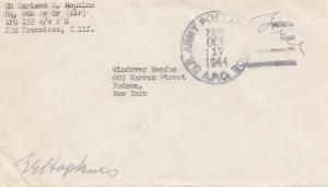 Netherland New-Guinea: San Francisco US Army postal Service to New York