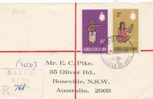 Gilbert & Ellice Islands 1969: Registered Beru to Australia