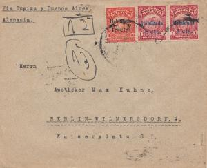 Bolivien: 1924 cover Cochabamba via Buenos Aires to Berlin/Germany