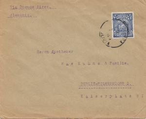 Bolivia 1929 cover Cochabamba via Buenos Aires to Berlin/Germany