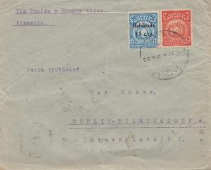 Bolivia: 1924 cover Cochabamba via Buenos Aires to Berlin/Germany