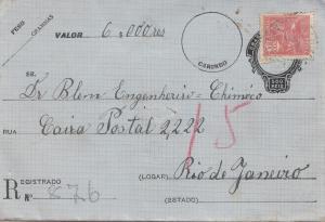 Brazil:  Value letter to Rio de Janeiro