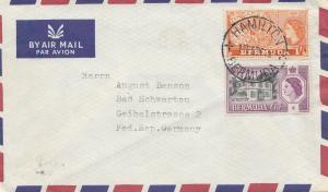 Bermuda: 1981: air Mail Hamilton to Bad Schwartau