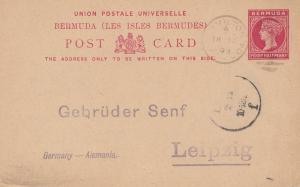 Bermuda: 1893 post card - to Gebrüder Senf, Leipzig - Germany