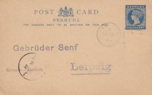 Bermuda: 1893 post card - to Gebrüder Senf/Leipzig