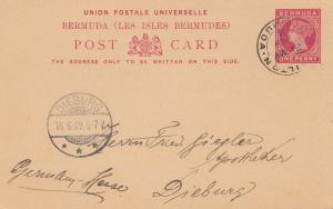 Bermuda: 1909: post card to Dieburg