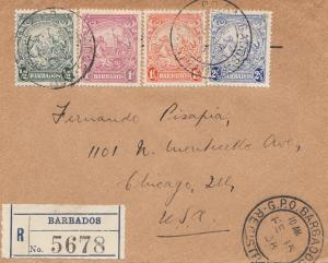 Barbados: 1938 Registered to Chacago