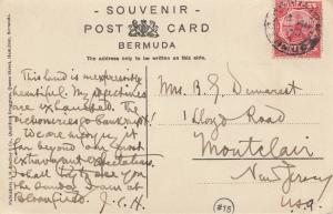 Bermuda: 1910: post card to New Jersey