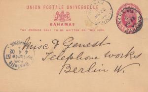 Bahamas: 1902 post card to Berlin - Telephone works