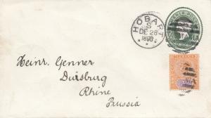 Tasmania: Hobart 1898 to Duisburg/Germany