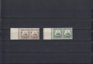 Samoa: MiNr. 20-21L, Leerfeld am linken Rand, postfrisch
