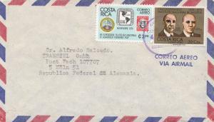 Costa Rica 1977 San Jose to Köln Transtel GmbH air mail