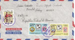 Costa Rica: 1977 San Jose to  Transtel GmbH  Köln