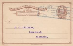 Costa Rica: 1910 post card San Jose to Remscheid