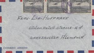 Costa Rica: 1938: San Jose to Saarbrücken air mail