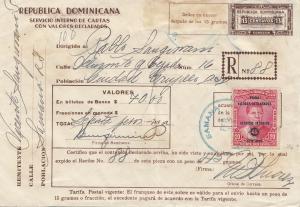 Domenikanische Republik: 1937: Carta con Valores Samana