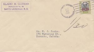 Domenikanische Republik 1920 Santo Domingo to Toronto, Sheperds clothing store