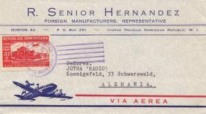 Domenikanische Republik 1952: Ciudad Trujillo to Germany-Black forest