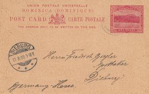 Domenikanische Republik: 1909: post card to Dieburg/Germany