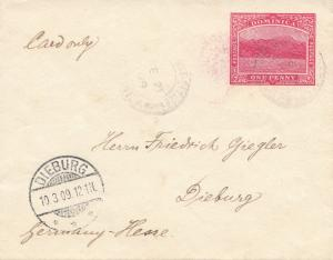 Domenikanische Republik: 10.03.1909: post card to Dieburg/Germany