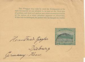Domenikanische Republik: 1909: Wrapper to Dieburg