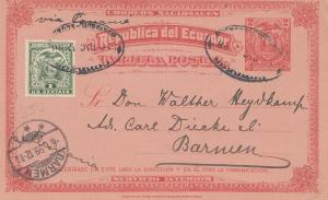 Ecuador: 1899: Post card to Barmen/Germany