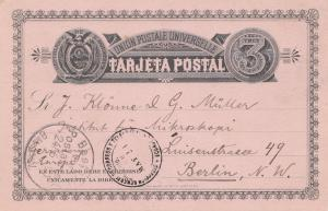 Ecuador: 1890: post card to Berlin