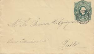 Ecuador: 1896: letter to Quito